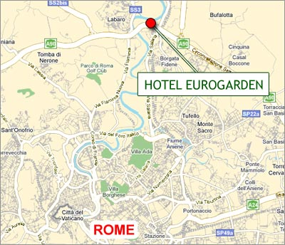Hotels Rome, Map